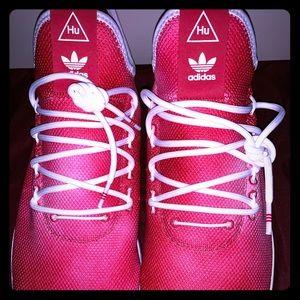 Pharrell Human Race Red Tennis Shoes